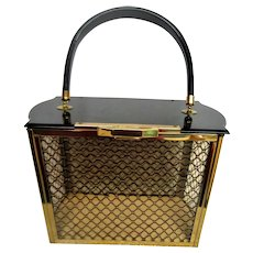 Stunning 1950 Majestic Lucite Handbag Purse