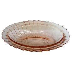Pink Sierra Pinwheel Oval Vegetable Bowl Depression Glass