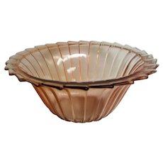 Pink Depression Glass Sierra Pinwheel Large Berry Bowl