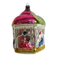 Hand Painted Hand blown Carousel Christmas Ornament