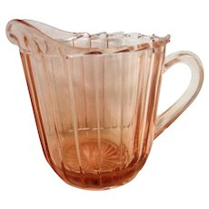 Pink Depression Glass Sierra Creamer