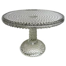 Early American pattern Glass EAPG Footed Hobnail Cake Stand RARE