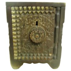 Cast Iron Key Combination Safe Coin Bank