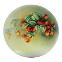 Hand Painted Limoges Cherries Plate