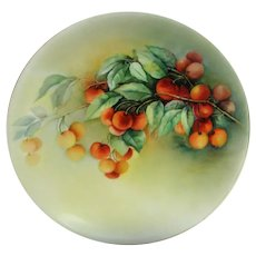 Hand Painted Limoges Cherries Plate