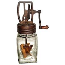 Dazey Churn with Original glass jar and original wooden paddles.