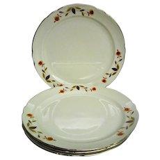 Four (4) Fantastic Autumn Leaf, Jewel Tea, Hall Large Dinner Plates