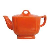Homer Laughlin Red Riviera Tea Pot RARE