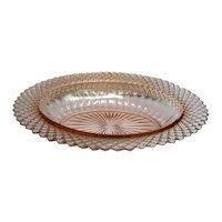 Vintage Pink Miss America Oval Depression Glass Vegetable Bowl