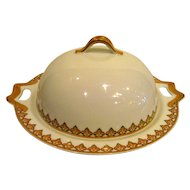 Haviland Limoges Three Piece Covered Butter Dish