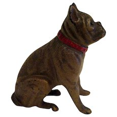 Cast Iron Dog Bank with Red Collar