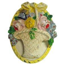 Hubley Cast Iron Flower Basket Door Knocker