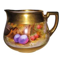 Stunning Hand Painted Pickard Cider Pitcher with Deserted Garden Design