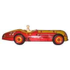 Metal Tin Litho Max Wind Up Large Toy Racer