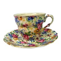 Vintage James Kent Rosalynde Chintz Cup and Saucer