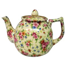 Vintage Japanese Chintz Teapot