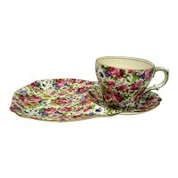 Vintage Royal Winton Summertime Chintz Tea and Toast Set