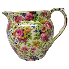 Vintage Royal Winton Summertime Chintz Milk Jug or Pitcher