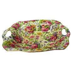 Vintage Royal Winton Summertime Chintz Two Handled Nut Dish