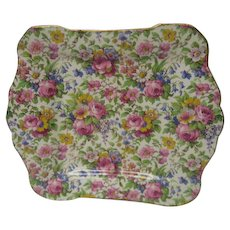 Vintage Royal Winton Summertime Chintz Handled Tray