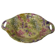 Vintage Lord Nelson Heather Chintz Two Handled Nut Dish