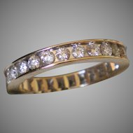 14K White Gold Diamond 1.30 DTW  Eternity Band Size 6