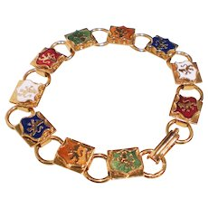 Vintage Enamel Lion Costume Bracelet Perfect