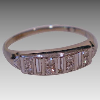 C1920 Platinum Diamond Ring Size 11 ½