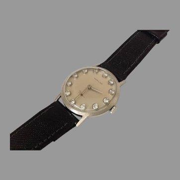 Hamilton Diamond Dial 14K White Gold Wrist  Watch
