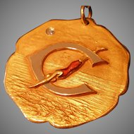 10k Gold Diamond Enamel 1931 Swimming Medal 100 Yard Free Style 13.6 GR