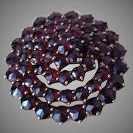 Vintage Garnet 14k Rose Gold Pin Brooch