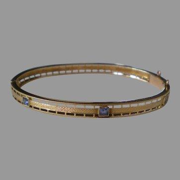 C1930 14K Yellow Gold Sapphire Bracelet Krementz