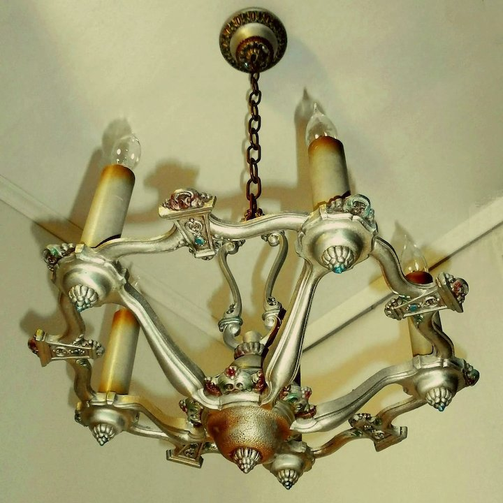 Riddle silvery polychrome 5 light revival chandelier light fixture riddle silvery polychrome 5 light revival chandelier light fixture aloadofball Choice Image