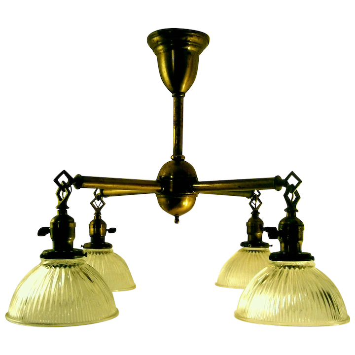 Crafts Mission Style Br Chandelier