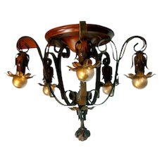 Moe Bridges 5-light Semi-Flush Mount Chandelier
