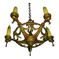 All Brass Virden 5-candle Chandelier