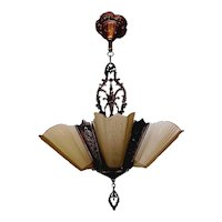 Virden Bronze 5-light slip shade Chandelier