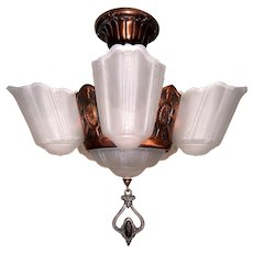Markel 5-light Slip Shade Chandelier for Low Ceilings