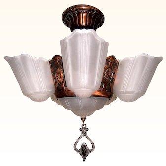 Markel 5-light Slip Shade Chandelier for Low Ceilings