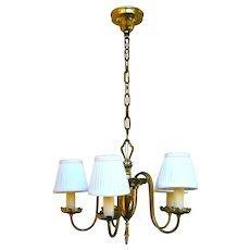 Classic vintage Brass 5-light Candelabra Chandelier