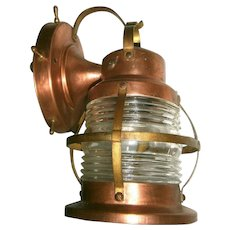 Pair Vintage Marine Style Porch Lights or Lanterns