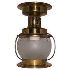 Vintage Brass Moe Marine Style Ceiling Porch Light