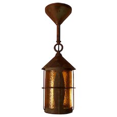 True Antique Copper Arts & Crafts Lantern