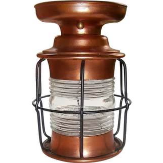 Copper Lantern/Nautical Style Porch Light Flush Mount