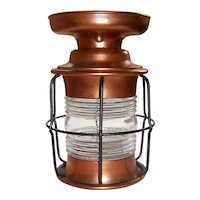 Vintage Copper Lantern/ Porch Light Flush Mount