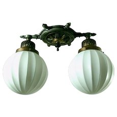 Nautical Style Two-light Flush Mount Light Fixture