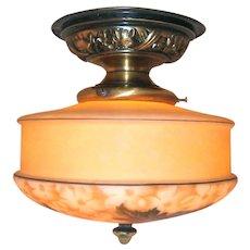 Vintage Bellova Flush Mount Light Fixture