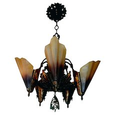 Midwest Soleure 5-light Bronze Slip Shade Chandelier