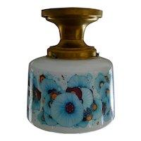 Sixties Colorful Art Deco Milk Glass Ceiling Light