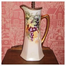 P  & P Limoges Large Tankard adapted for a Lamp